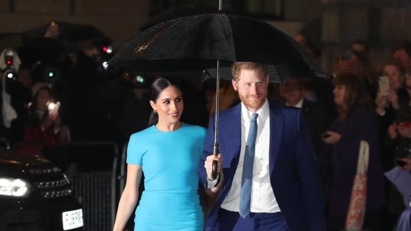 """Von April an verzichten Prinz Harry und Herzogin Meghan auf die Anrede """"Königliche Hoheit"""". Foto: Steve Parsons/PA Wire/dpa"""