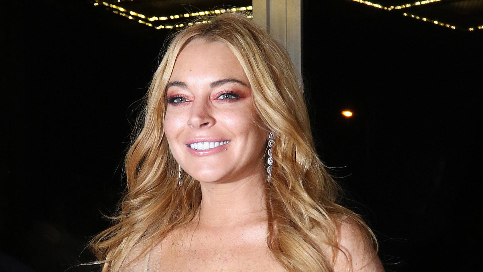 Lindsay Lohan attends the opening of her nightclub in Athens, Greece called 'Lohan'