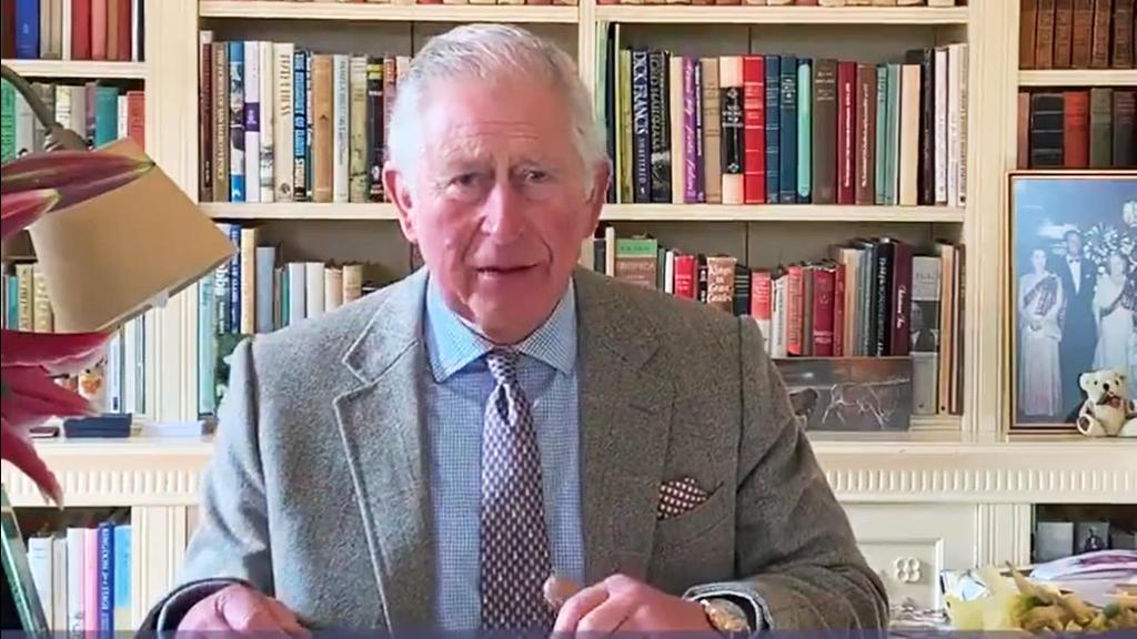 01.04.2020, Großbritannien, London: Ausschnitt aus einer Videobotschaft, die der britische Prinz Charles, Prinz von Wales, als Reaktion auf die Coronavirus-Pandemie in seinen sozialen Medienkonten veröffentlicht hat. (Bestmögliche Qualität) Foto: Cla