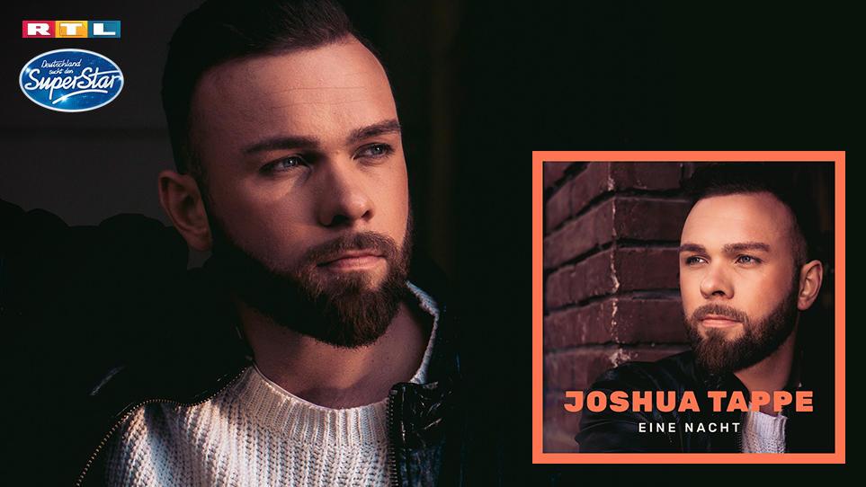 """DSDS-Finalist Joshua Tappe mit seiner Debütsingle """"Eine Nacht""""."""