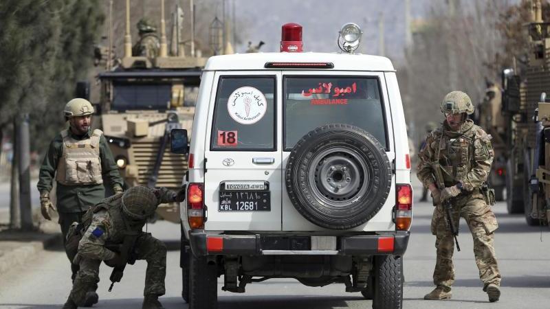 Britische Soldaten Anfang März bei einem Einsatz in Kabul. Foto: Rahmat Gul/AP/dpa