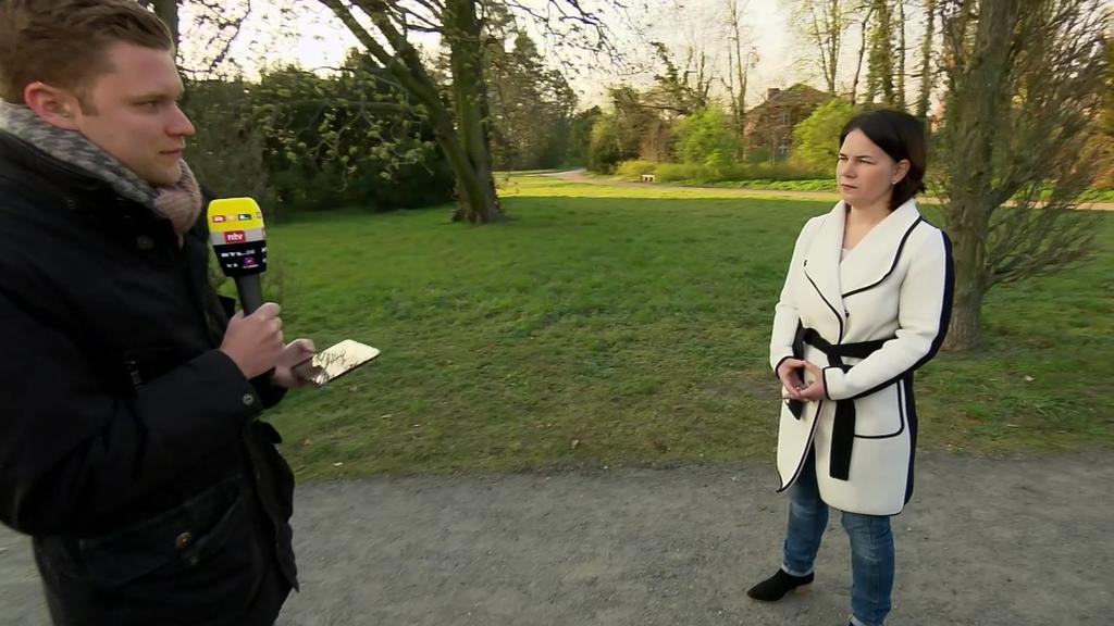 Potsdam: Grünen-Chefin Annalena Baerbock (39) im RTL/ntv Frühstart