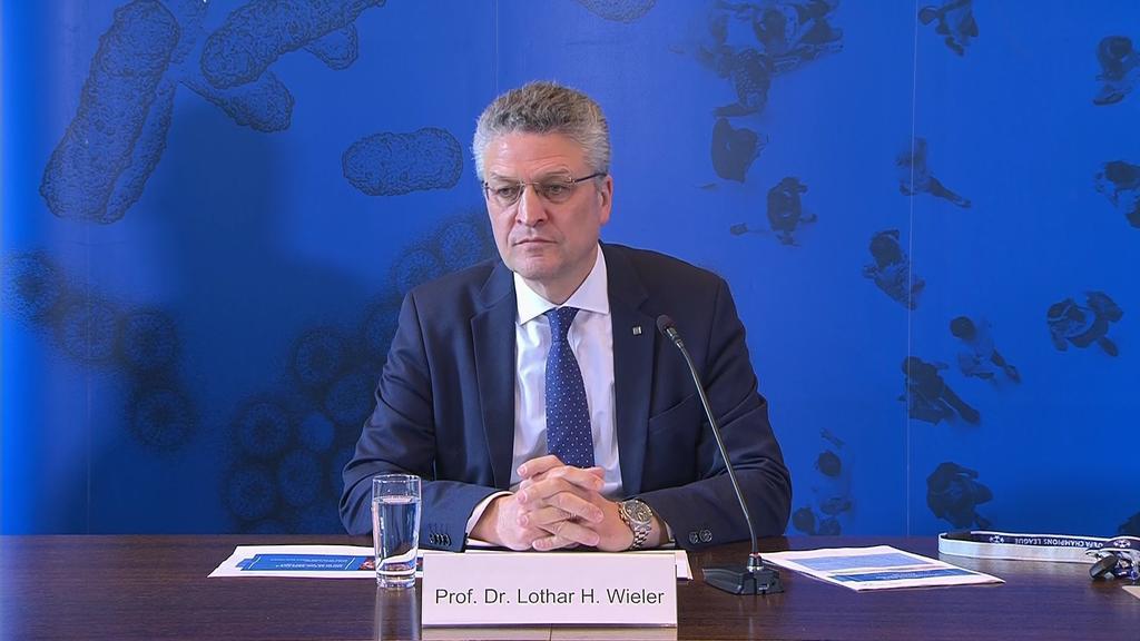 RKI-Präsident Dr. Lothar Wieler bei der Pressekonferenz am Dienstag 07.04.2020