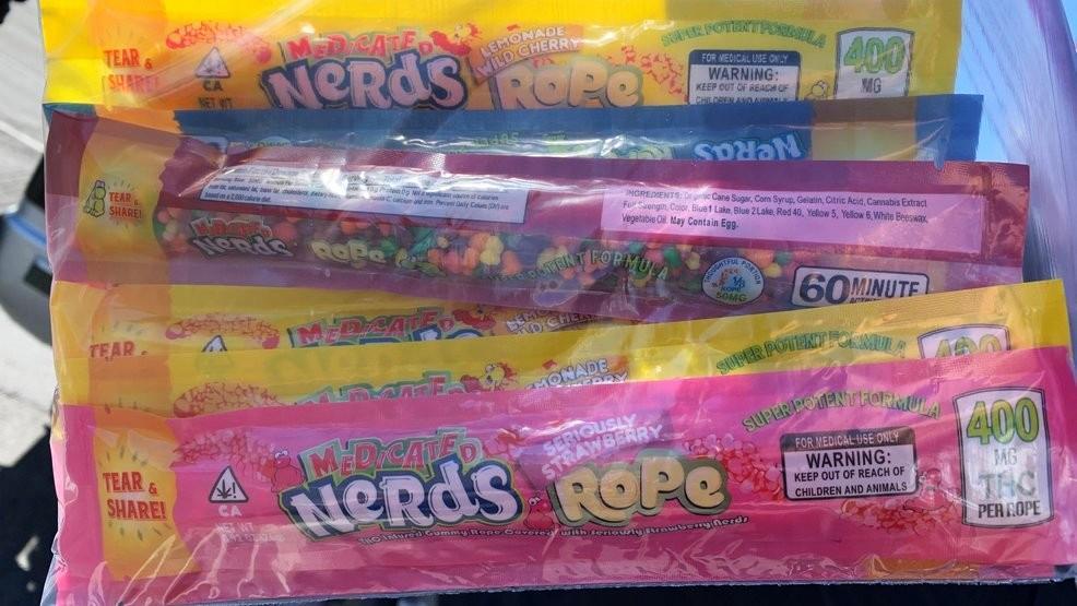 Die Cannabis-Bonbons sehen echten Süßigkeiten zum Verwechseln ähnlich.