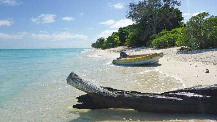 Die Insel North West Island vor der australischen Küste