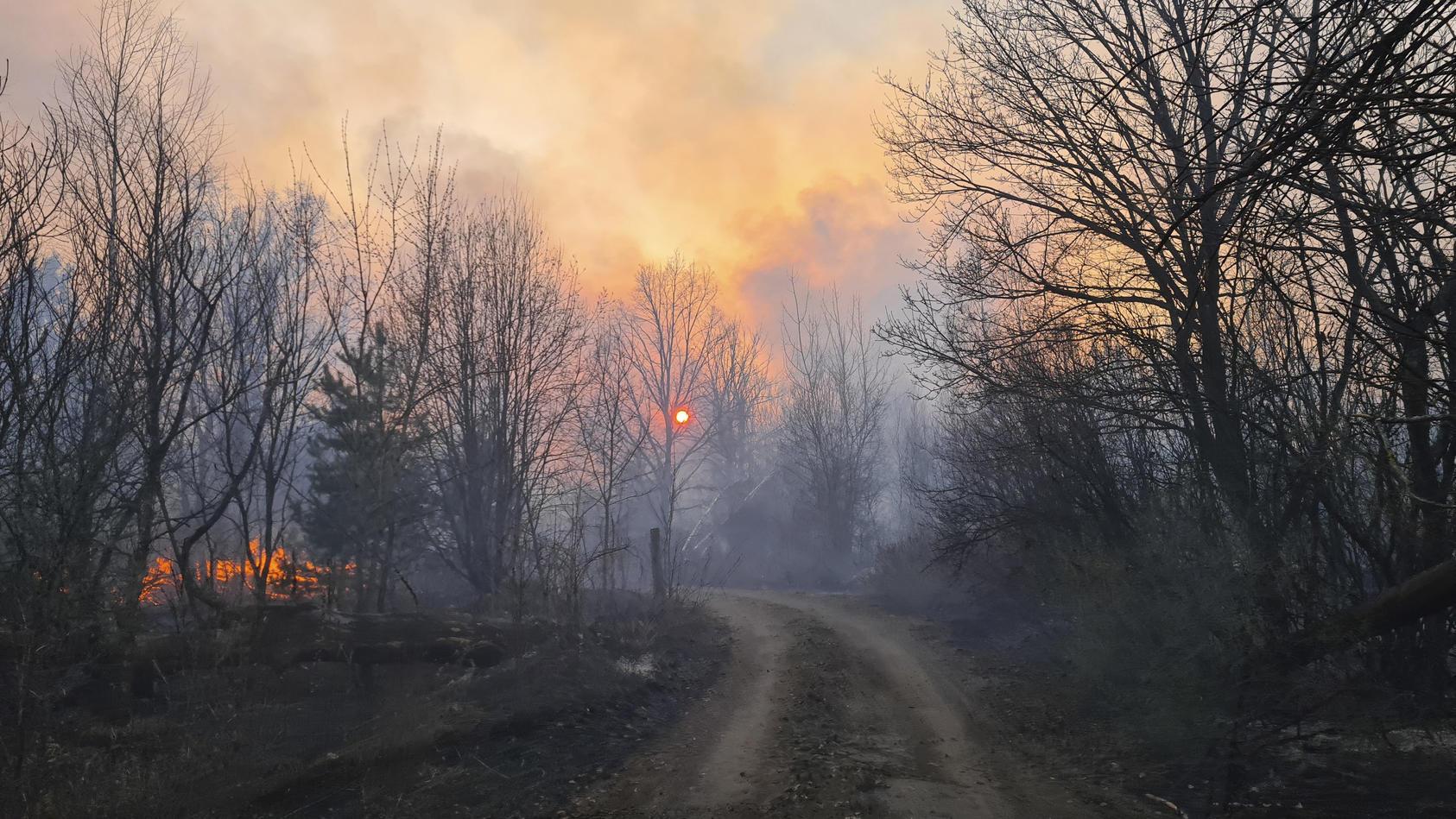 Die Brände in radioaktiv verstrahlten Wäldern um das havarierte Kernkraftwerk Tschernobyl sind weiterhin nicht unter Kontrolle.