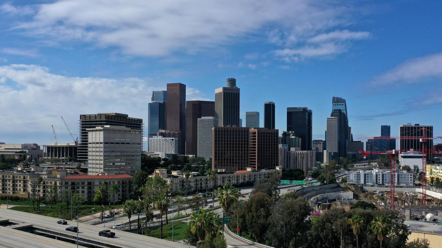 Die Skyline von Los Angeles