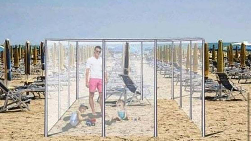 Plexiglas-Boxen für Strandurlaub?