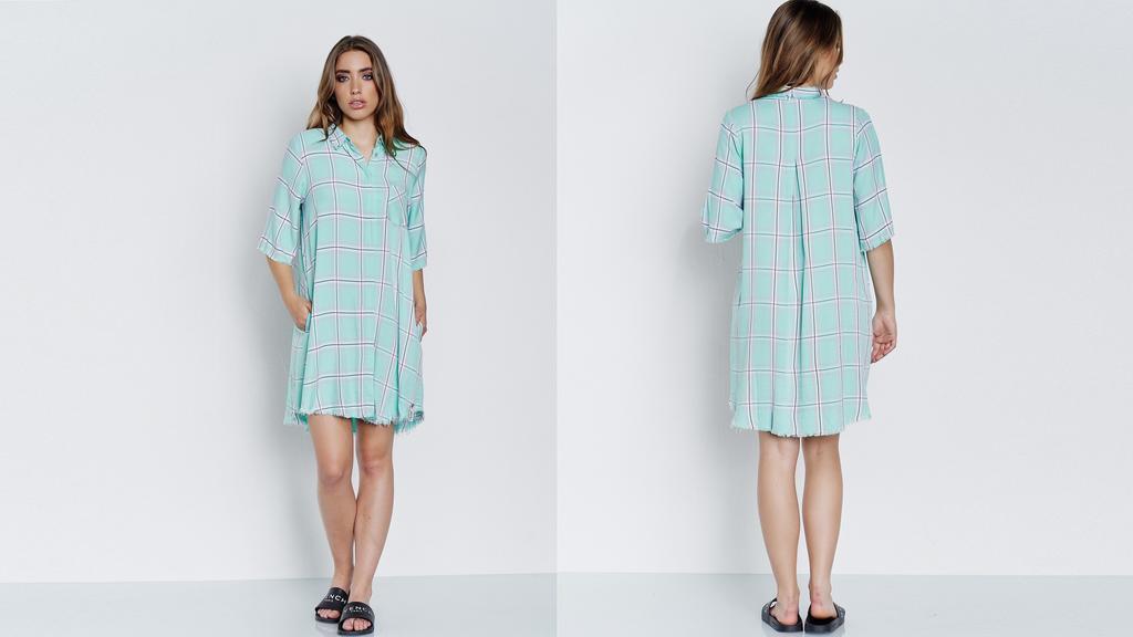 Cotton Candy: Hemdkleid mit weiter Passform