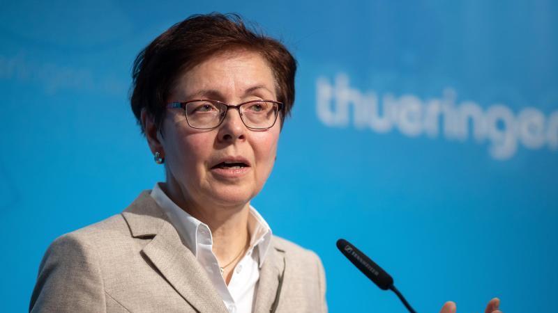 Heike Taubert, die Finanzministerin von Thüringen. Foto: Michael Reichel/dpa/Archivbild