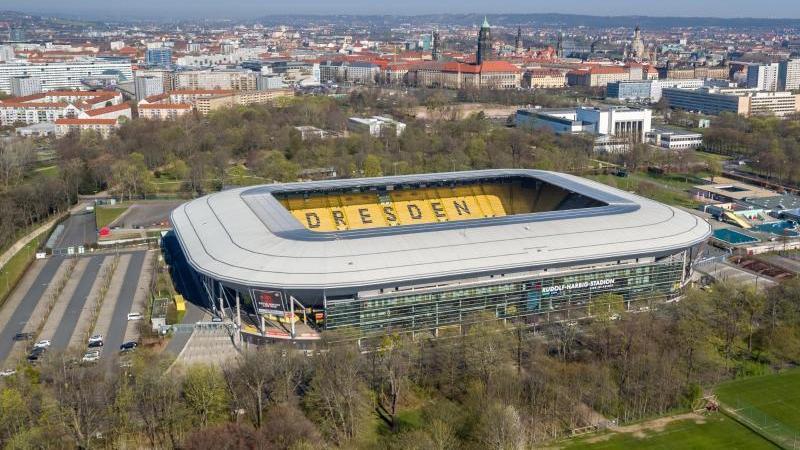 Das Rudolf-Harbig-Stadion, Spielstätte der SG Dynamo Dresden. Foto: Jan Woitas/dpa-Zentralbild/dpa/Archivbild
