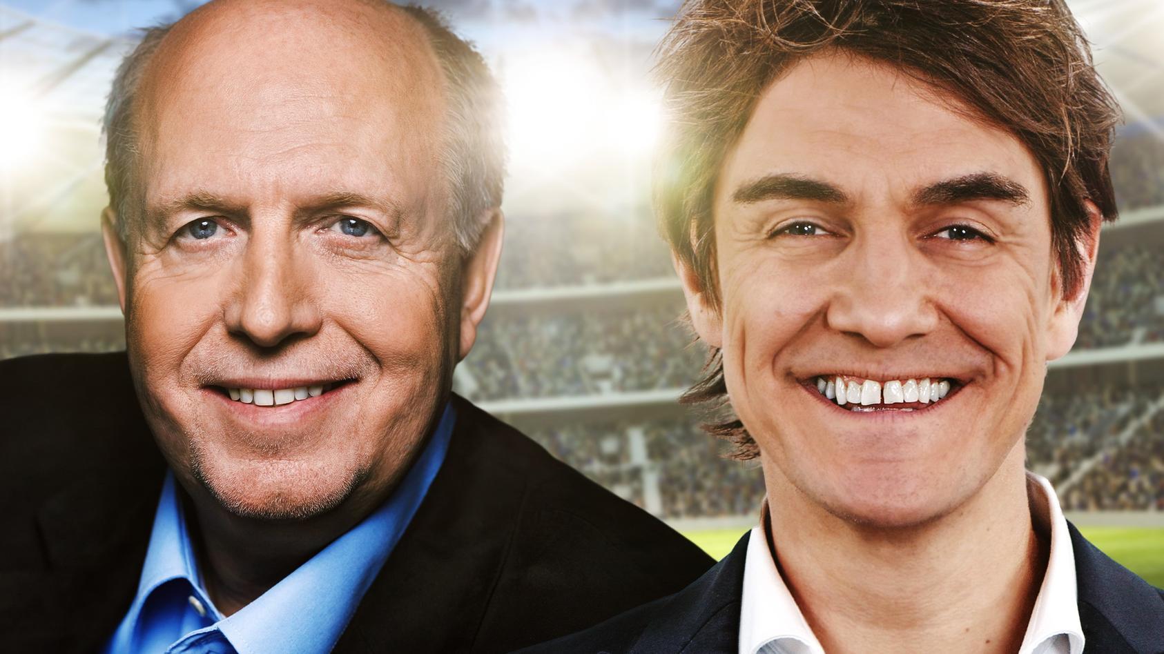 """""""Messi und Ronaldo XXL"""" alias Reiner """"Calli"""" Calmund und Matthias """"Matze"""" Knop"""