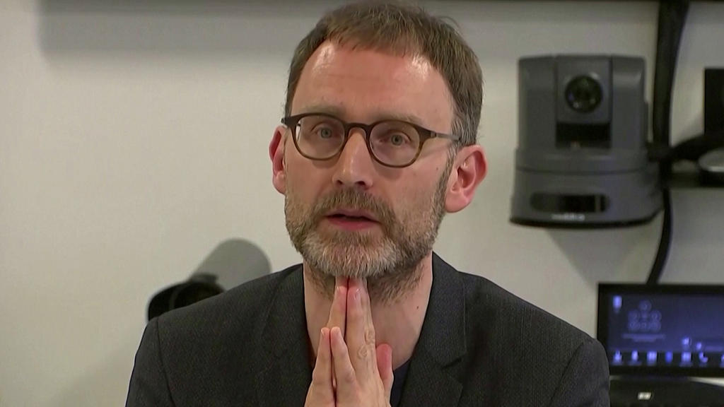 Epidemiologist Neil Ferguson speaks at a news conference in London, Britain January 22, 2020, in this still image taken from video. REUTERS TV via REUTERS