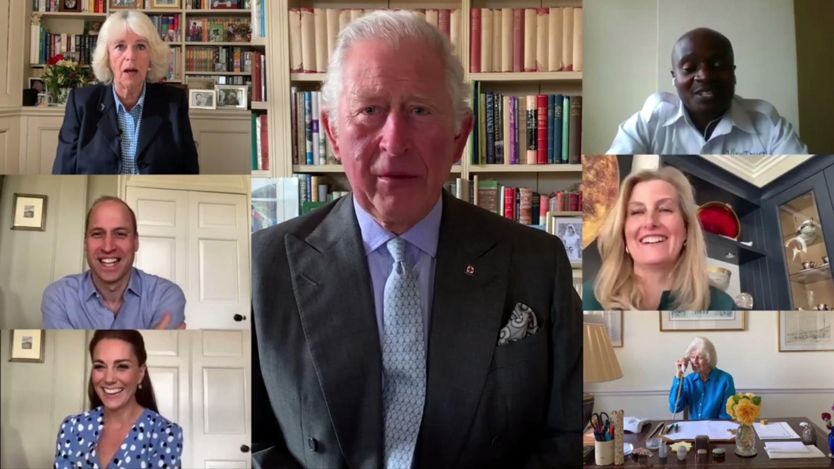 Britische Royals im Video-Call.
