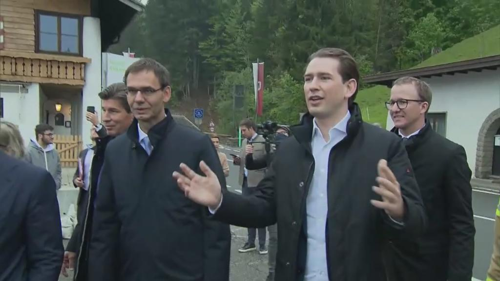 The conservative politician was out in the Kleinwalsertal on Wednesday without a face mask.