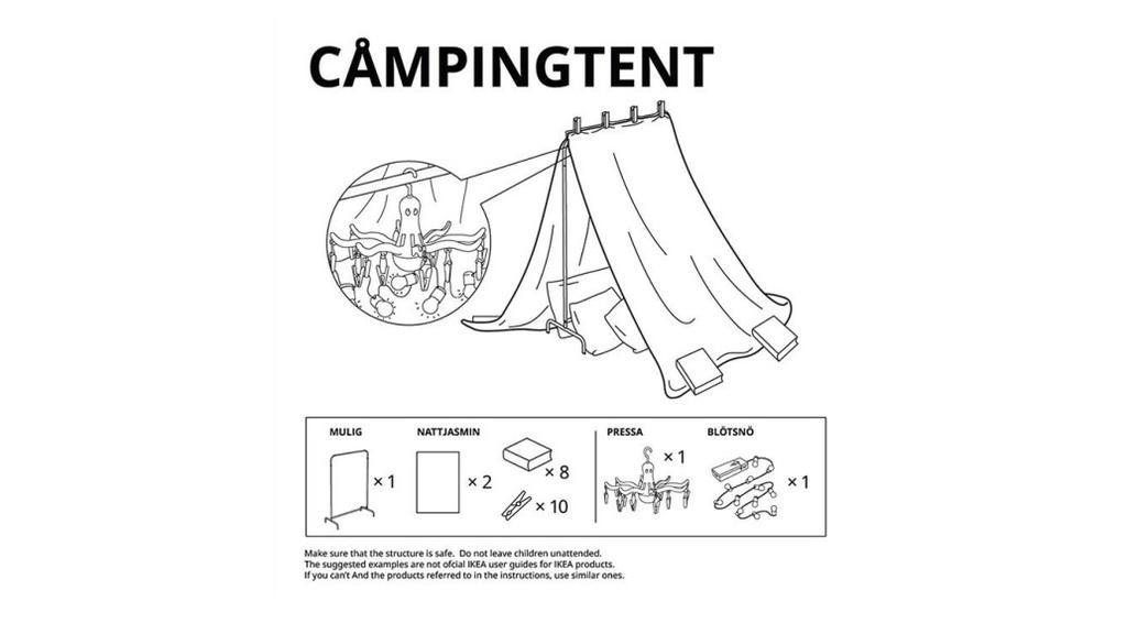 Das Modell Campingtent begeistert Outdoor-Fans.