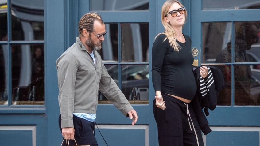 Der Babybauch von Jude Laws Frau Philippa ist nicht mehr zu übersehen