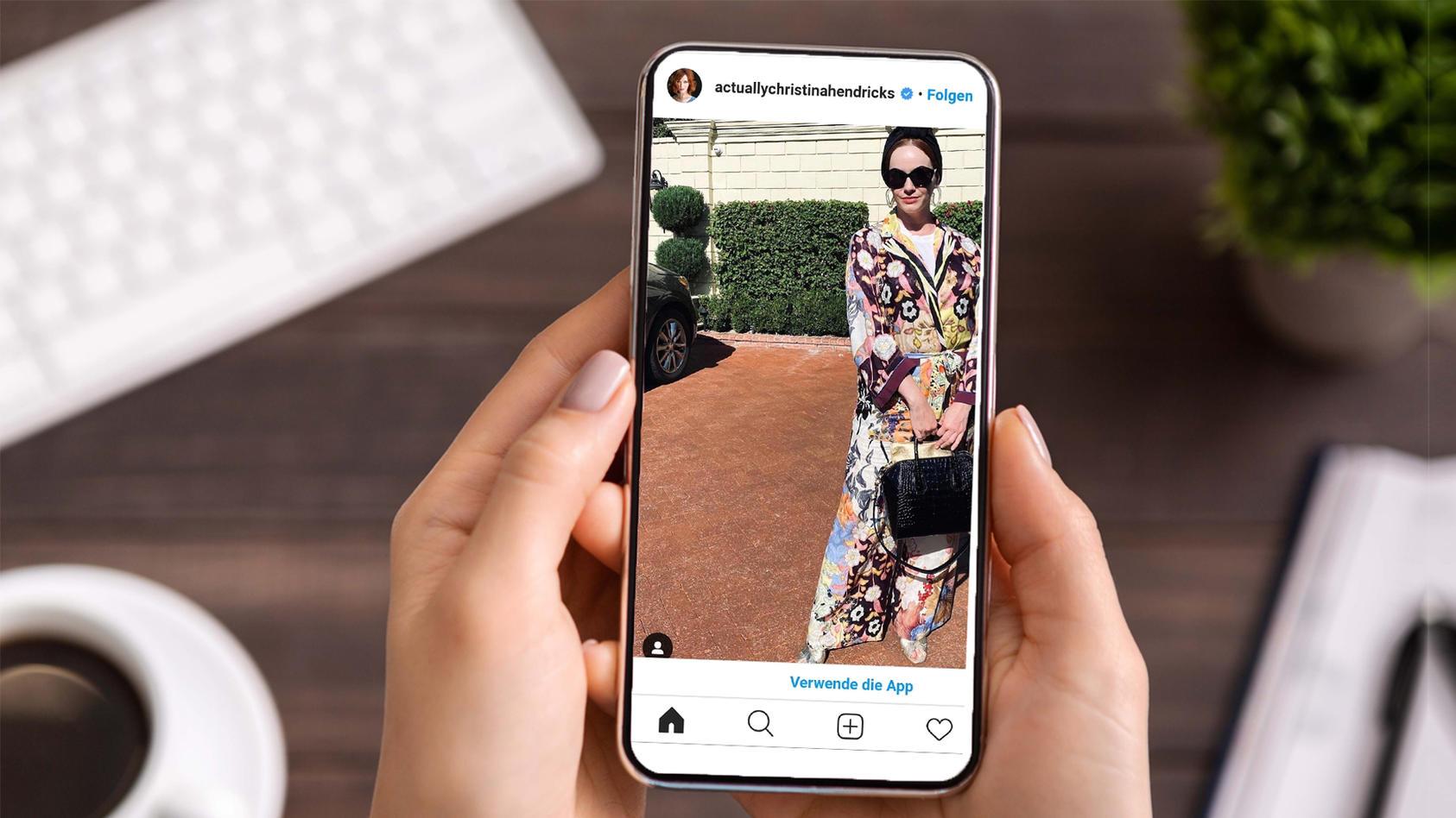 Das ist actuallychristinahendricks. So heißt der Instagram-Account der Prominenten.