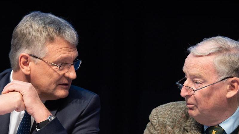 Der AfD-Vorsitzende Jörg Meuthen (l) und Bundestagsfraktionschef Alexander Gauland. Foto: Sina Schuldt/dpa