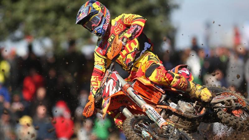 Der deutsche Motocross-Fahrer Ken Roczen in Aktion. Foto: Jan Woitas/dpa-Zentralbild/dpa/Archivbild