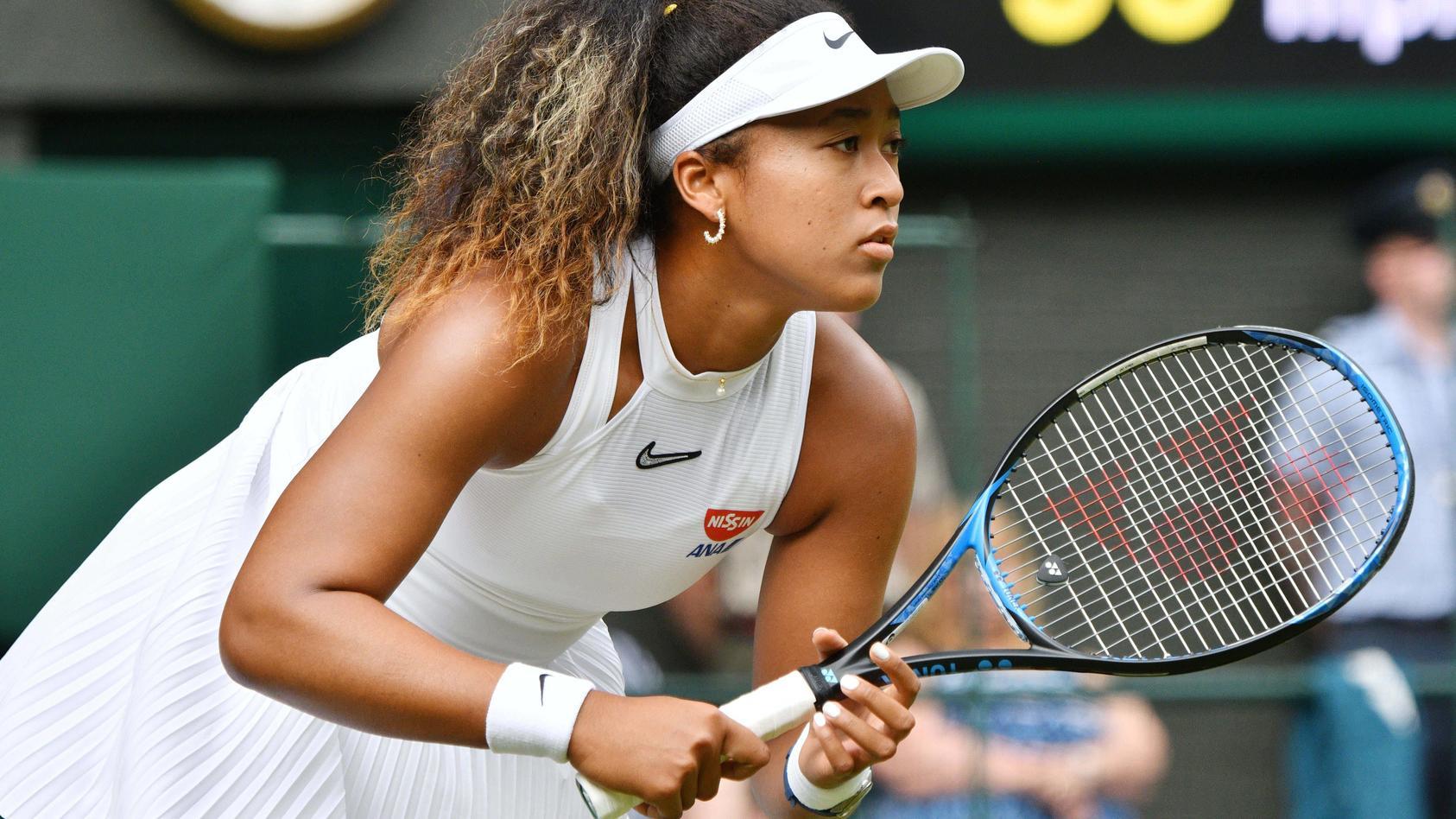 July 1, 2019 - London, London, United Kingdom - 1st July 2019. London, United Kingdom..Naomi Osaka of Japan loses her 1
