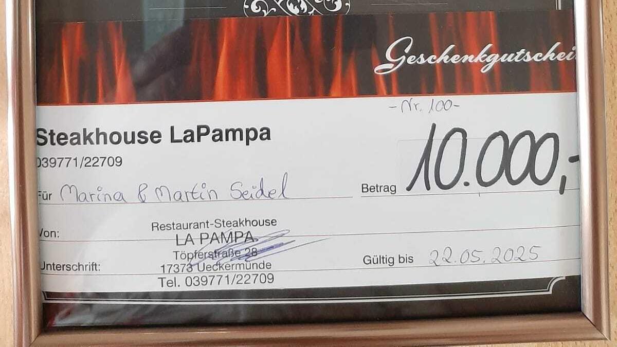 """10.000-Euro-Gutschein zur Rettung des """"La Pampa"""""""