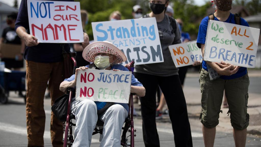 Nach dem Tod von George Floyd demonstrierten viele Schwarze für ihre Rechte.