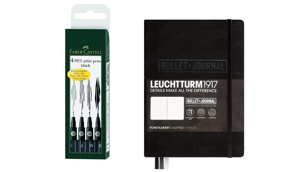 Pitt Artist Pen und Bullet Journal.