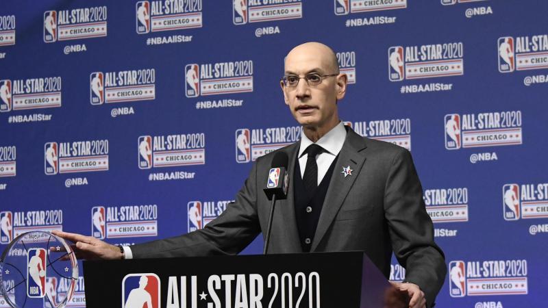 NBA-Commissioner Adam Silve plant den Neustart nach der Corona- Pandemie. Foto: David Banks/AP/dpa