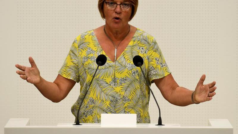 Meta Janssen-Kucz (Bündnis90/Die Grünen) spricht im Landtag. Foto: Holger Hollemann/dpa/Archivbild