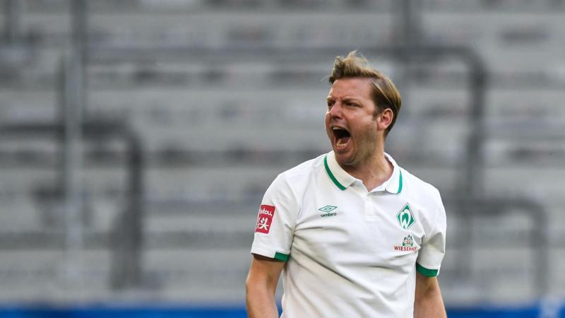 Werder-Trainer Florian Kohfeldt hofft auf ein weiteres Erfolgserlebnis im Abstiegskampf. Foto: Bernd Thissen/dpa-Pool/dpa