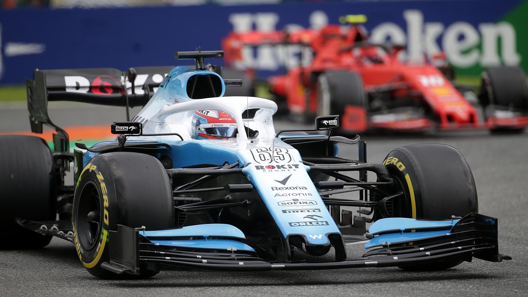 George Russell (Williams) vor Charles Leclerc (Ferrari) - Autodromo Nazionale Monza