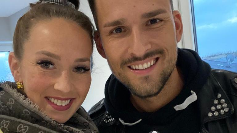 Christina Grass und Marco Cerullo sind immer für einen Spaß zu haben.