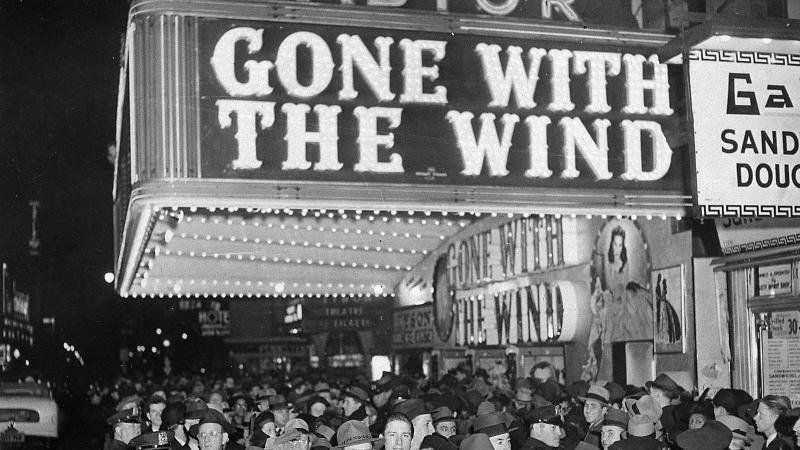 """Premiere von """"Vom Winde verweht"""" im New Yorker Astor-Theater. Foto: AP/dpa"""