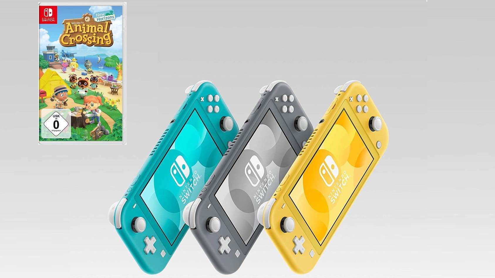 """Media Markt hat die Switch Lite samt """"Animal Crossing"""" nicht mehr im Bundle. Preislich bleibt es aber fair."""
