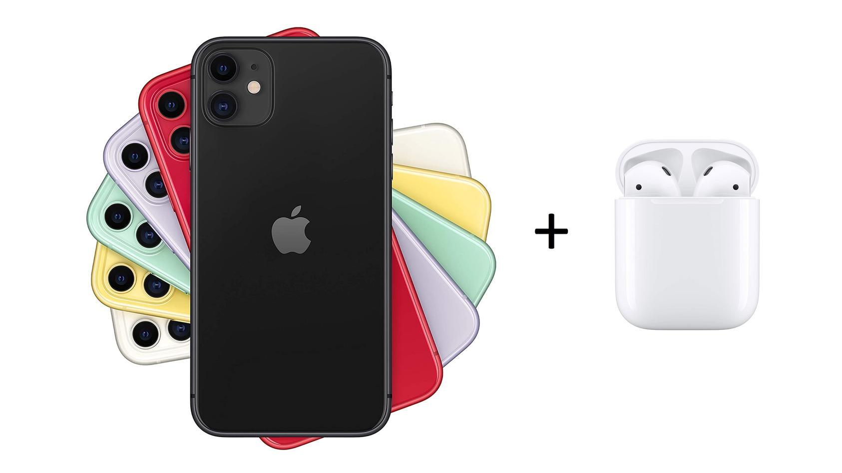 O2 bietet das iPhone 11 mit AirPods samt Allnet-Flat an.