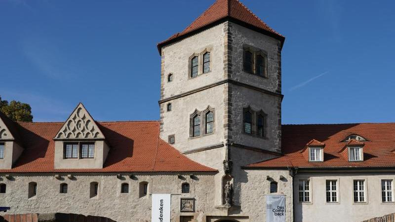 Die Außenansicht des Kunstmuseum Moritzburg. Foto: Peter Endig/dpa-Zentralbild/dpa/Archivbild