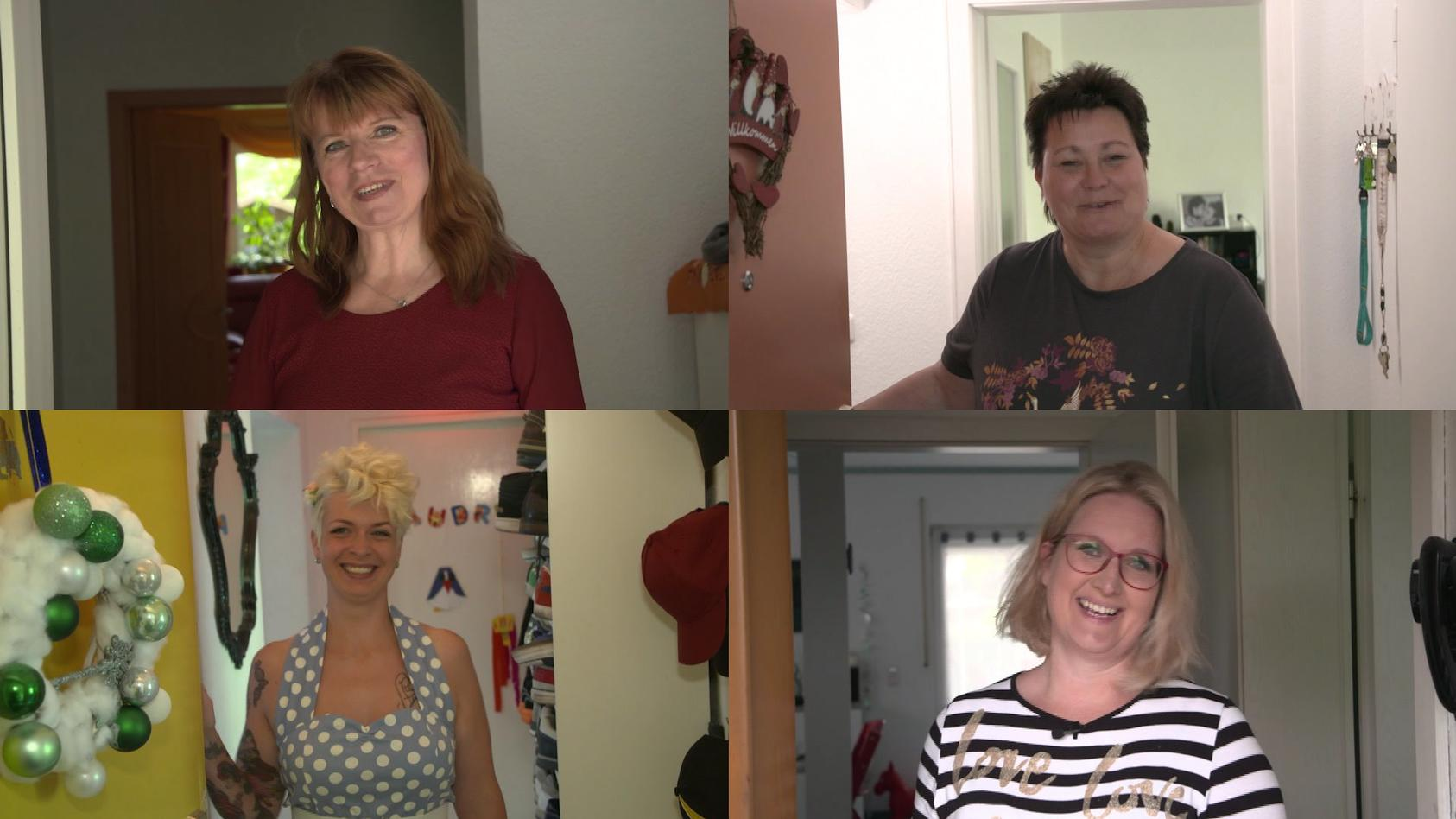 Vier Frauen im Kampf gegen Cellulite