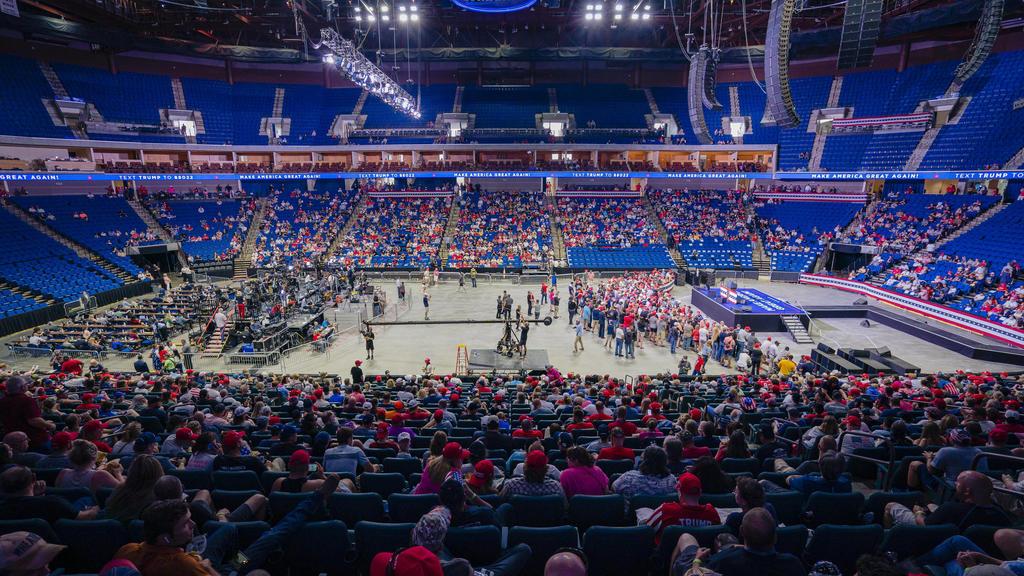 Trumps Wahlkampf-Auftritt in Tulsa