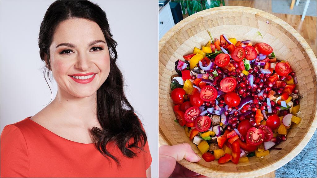 Antonia liebt einen frischen Sommer-Salat mit Granatapfel.