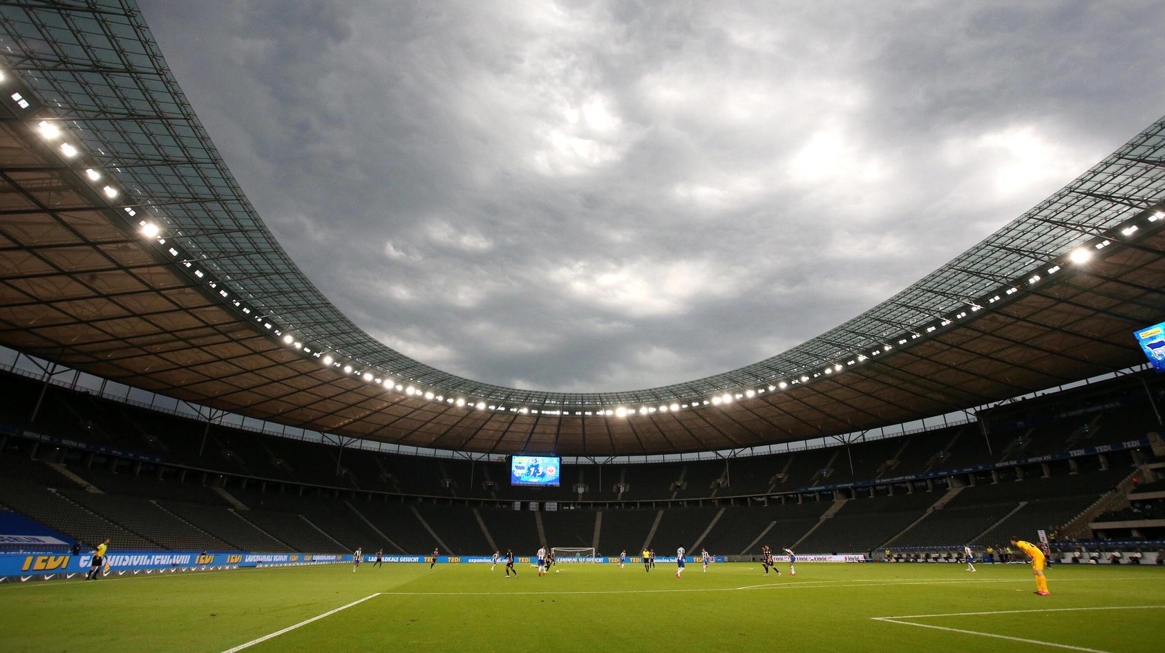 GER, DFL, 1.FBL, Hertha BSC vs. Eintracht Fankfurt / 13.06.2020, OLympiastadion, Berlin, GER, DFL, 1.FBL, Hertha BSC vs.
