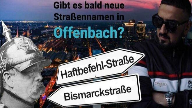 Haftbefehl-Straße statt Bismarckstraße?