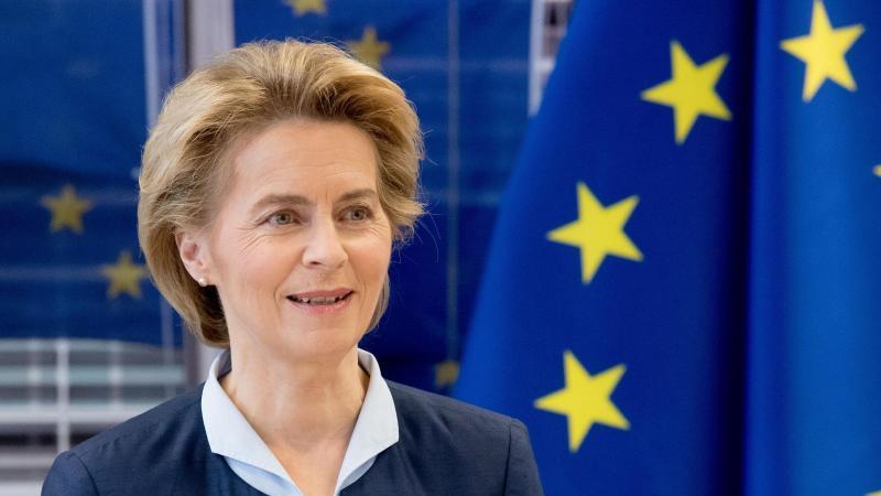 EU-Kommissionspräsidentin Ursula von der Leyen. Foto: Etienne Ansotte/European Commission/dpa