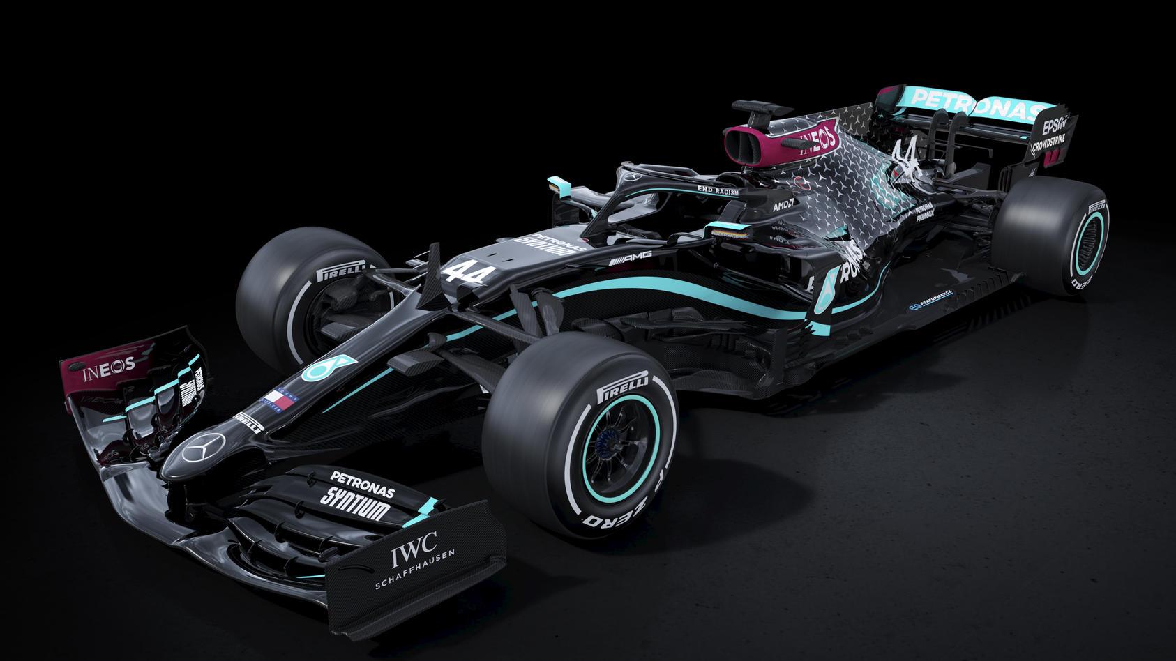 Silver Arrows return to racing with renewed purpose. Lewis Hamilton's F1 car.