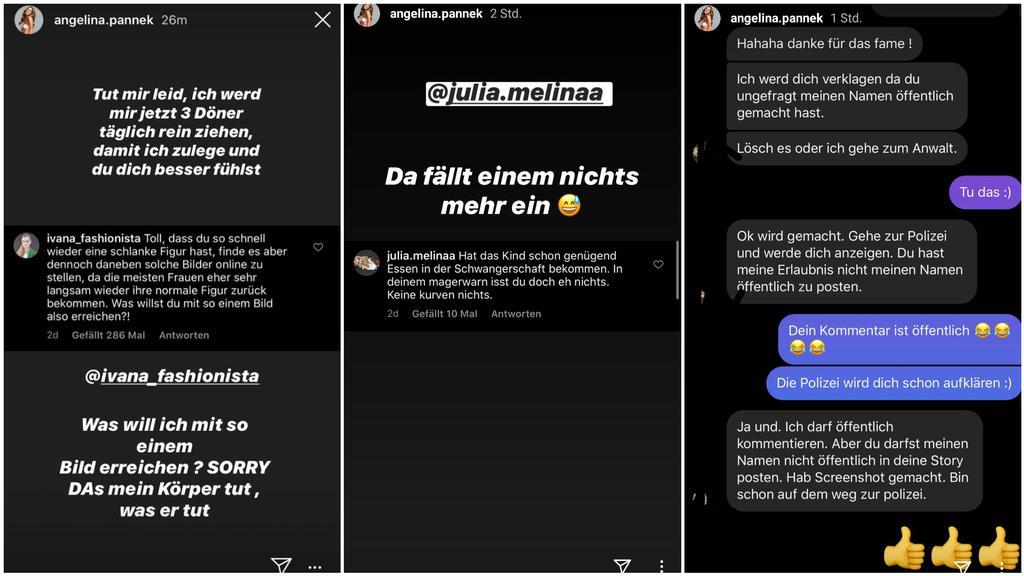 Angelina Pannek: Instagram-Story