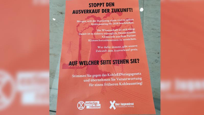 Berlin: Im Bundestag gab es Proteste von Extinction Rebellion