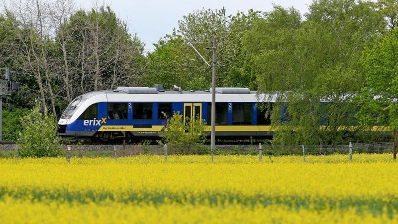 Ein Erixx-Zug unterwegs in der Wedemark. Foto: Holger Hollemann/dpa/Archivbild