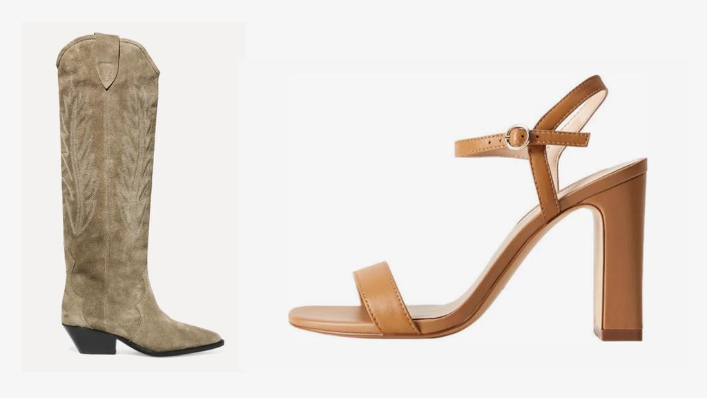 Stiefel von Isabel Marant, Sandalette von Mango.