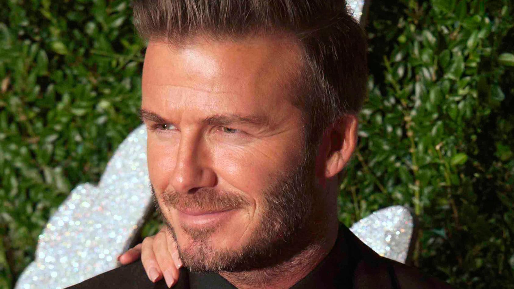 David Beckham hat  wieder eine neue Frisur.
