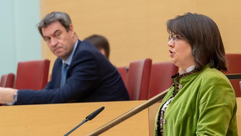 Claudia Köhler (Bündnis 90/Die Grünen) spricht während einer Sitzung des bayerischen Landtags. Foto: Peter Kneffel/dpa/Archivbild